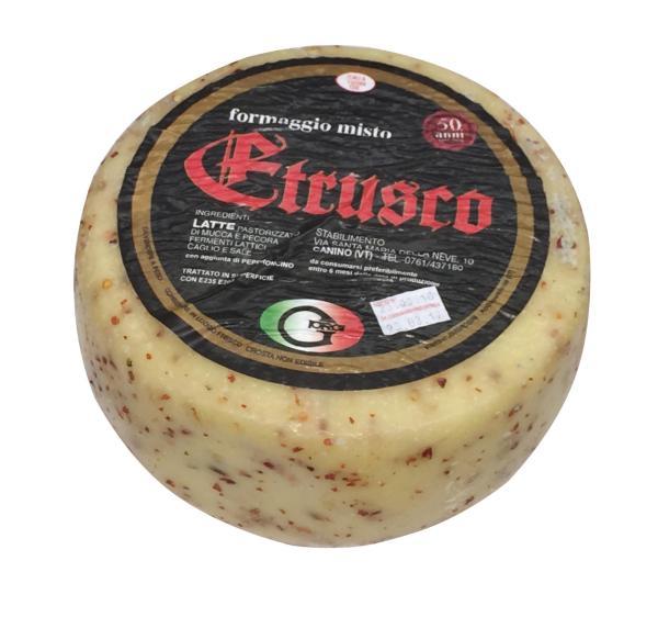 Formaggio Misto Etrusco al Peperoncino CASEIFICIO GIORGI 3.5kg