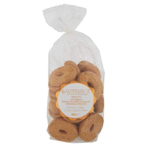 Biscotti integrali senza zuccheri aggiunti ARTEBIANCA 300gr