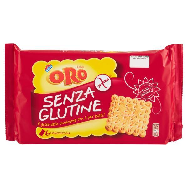Biscotti Gluten Free senza Glutine ORO SAIWA 200gr