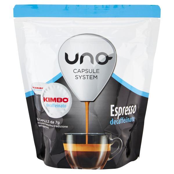 CAFFE' Decaffeinato KIMBO UNO CAPSULE SYSTEM 16 capsule