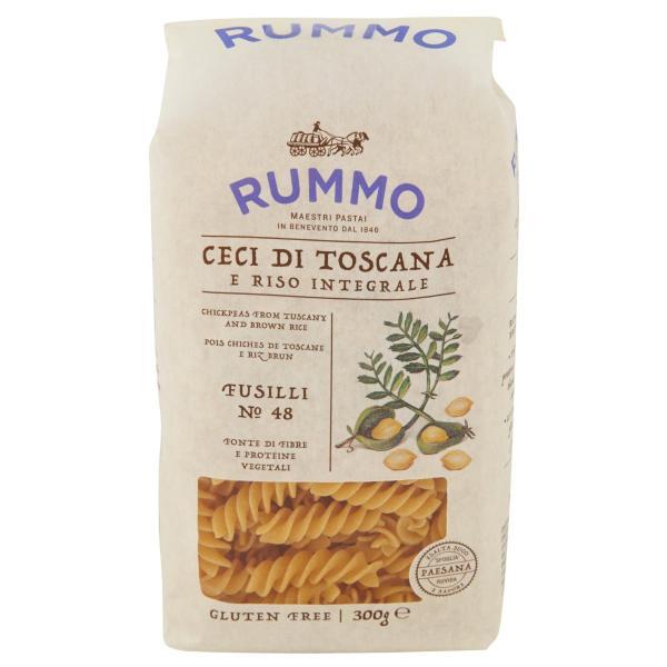 Fusilli n.48 Ceci Riso Integrale Senza Glutine RUMMO 300gr