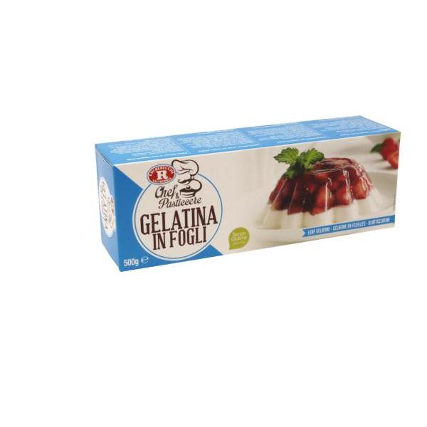 Gelatina in fogli x Dolci Senza Glutine REBECCHI 0.5kg