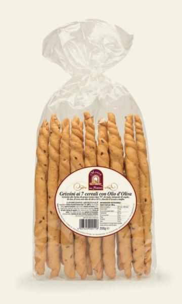 Grissini 7 Cereali con Olio di Olive MAGIE DEL FORNO 0.2kg