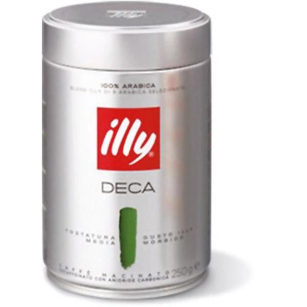 ILLY Deca CAFFÈ Macinato Decaffeinato 100% Arabica 250gr
