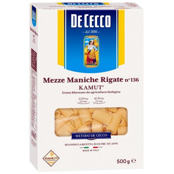Mezze Maniche Rigate al Kamut DE CECCO 500gr