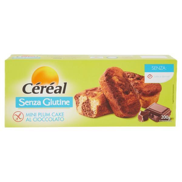 6 Mini Plum Cake al Cioccolato Senza Glutine CÉRÉAL 200gr