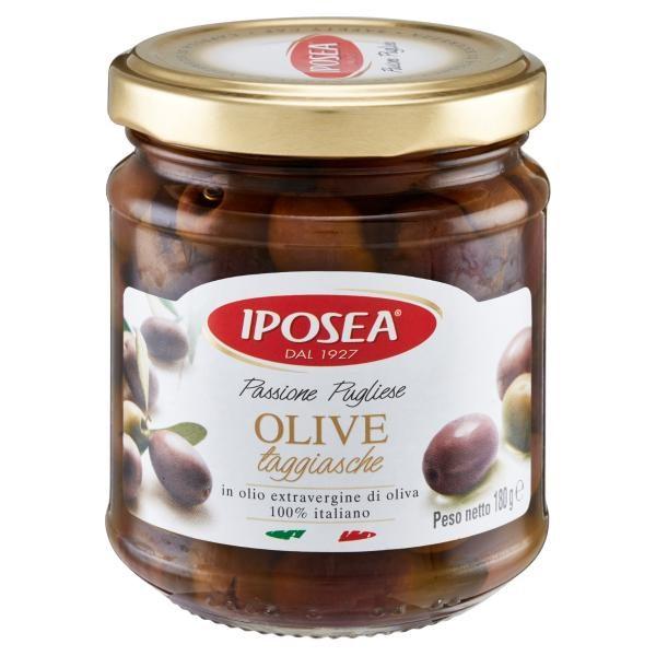 Olive Taggiasche denocciolate in Olio Extravergine IPOSEA 180gr