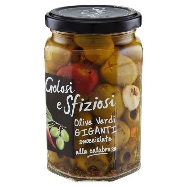 Olive Verdi Piccanti alla Calabrese 290gr
