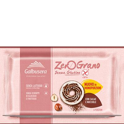 Biscotti con Cacao e Nocciole senza glutine e lattosio GALBUSERA 220gr