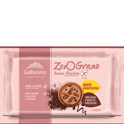 Biscotti con Cacao e gocce di CIOCCOLATO senza glutine e lattosio GALBUSERA 220gr