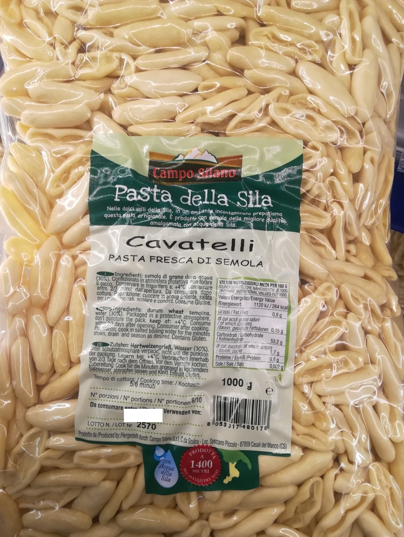CAVATELLI pasta fresca Calabria CAMPO SILANO 1kg