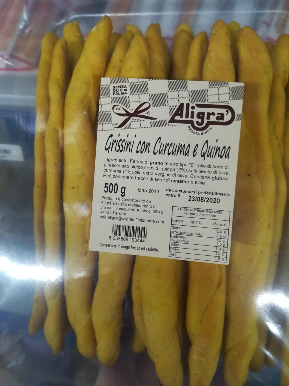 Grissini con Curcuma e Quinoa ALIGRA' 500Gr