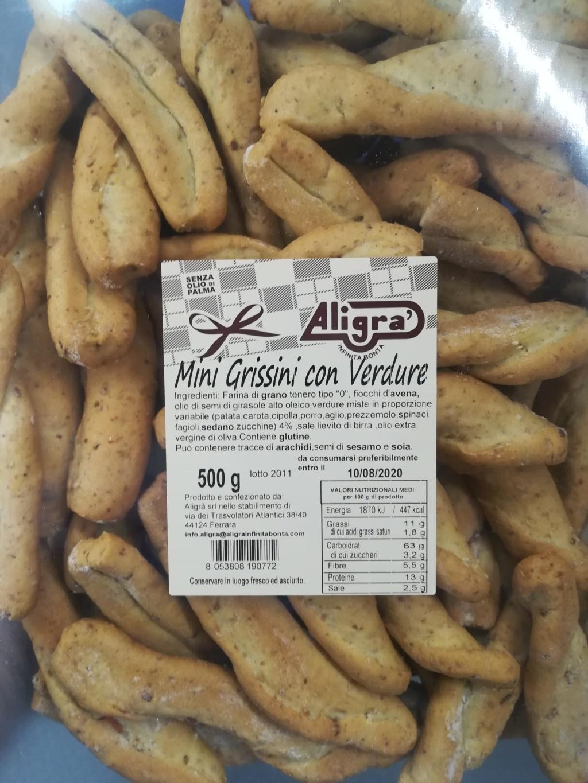 Mini Grissini con Verdure Aligrà 500gr