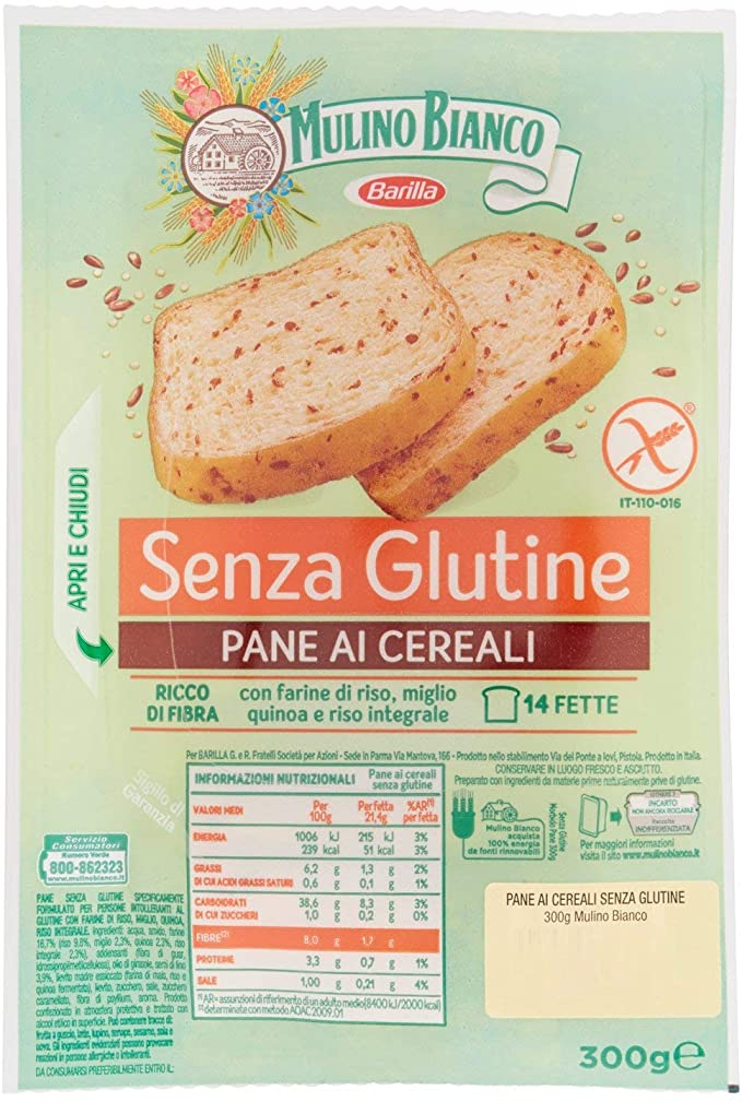 Pane ai Cereali senza Glutine MULINO BIANCO 300gr