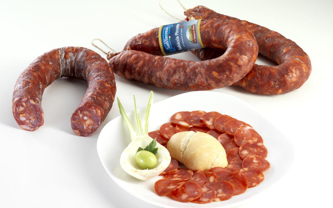 Salsiccia Piccante Calabria SAN VINCENZO 0.3kg c.a.